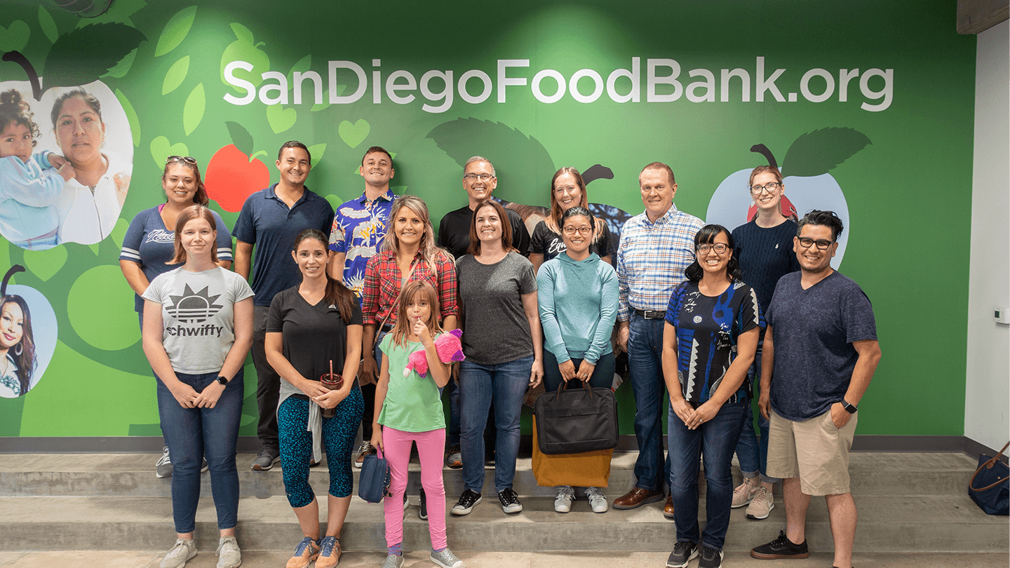 Group photo of volunteers at the Food Bank